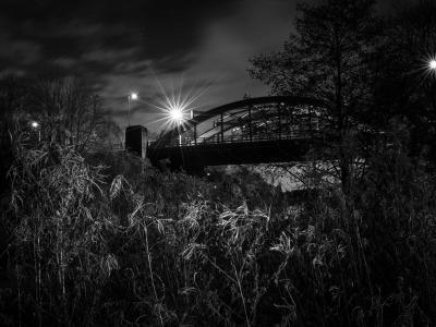 Northwich Blue Bridge at Night