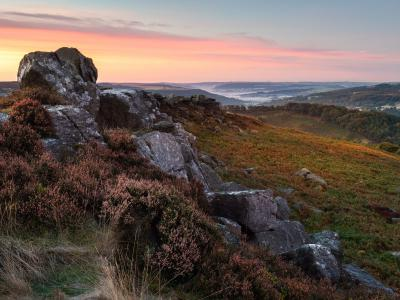 Sunrise over Carrhead Rocks, Peak District