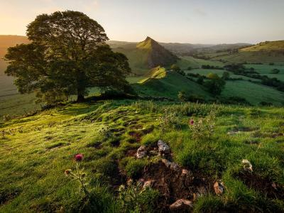 View to Parkhouse Hill from Chrome Hill in the Peak district