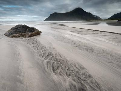 Skagsanden Beach, Flakstad, Norway